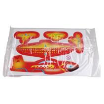 3D-puzzel vliegtuig 8 x 6 cm rood/oranje