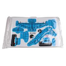 3D-puzzel vliegtuig 8 x 6 cm blauw