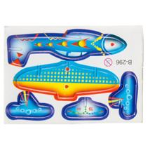 3D-puzzel vliegtuig 8 x 6 cm oranje/geel/blauw