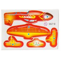 3D-puzzel vliegtuig 8 x 6 cm oranje/geel