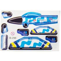 3D-puzzel vliegtuig 8 x 6 cm blauw/geel