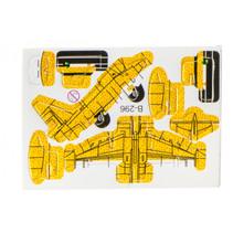 3D-puzzel vliegtuig 8 x 6 cm geel