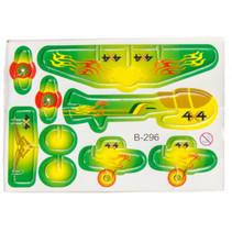 3D-puzzel vliegtuig 8 x 6 cm groen/geel