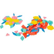 mozaïekset tangram blokken hout 250-delig