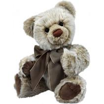 knuffelbeer Teddy Raban junior 42 cm pluche grijs/wit