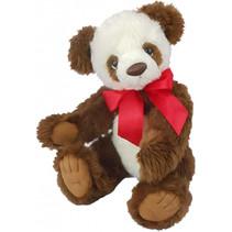 knuffelbeer Panda Naomi junior 40 cm pluche bruin/wit
