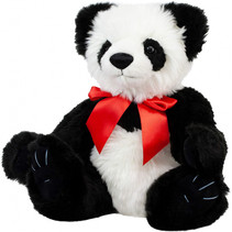 knuffelbeer Panda Akira junior 40 cm pluche wit/zwart