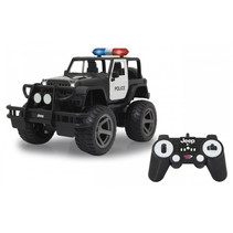 politiewagen RC Jeep Wrangler 34 x 20 cm 1:12 zwart