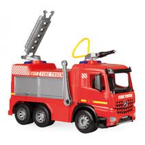 brandweerwagen Giga Trucks junior 66 cm rood/zilver