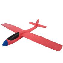 zweefvliegtuig Swan Glider 56 x 69 cm rood