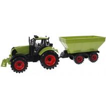 speelset Junior Farming tractor met aanhanger 43 cm