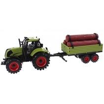 speelset Junior Farming tractor en aanhanger 43 cm
