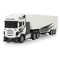 RC vrachtwagen met trailer 46,5 cm 1:34 wit 3-delig