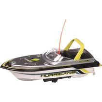 speedboot RC junior 16 x 7 cm wit/geel 6-delig