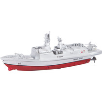 slagschip mini 15,5 x 3,85 x 5,7 cm junior rood 4-delig
