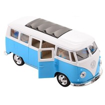 Volkswagen Bus T1 1:38 die-cast pull back blauw