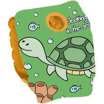 zwemvleugeltjes Turtle junior 25 cm PVC groen/geel