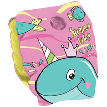 zwemvleugeltjes Whale junior 25 cm PVC roze