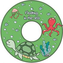 zwemring Turtle junior 51 cm groen