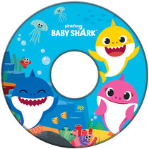 zwemring Baby Shark junior 51 cm blauw