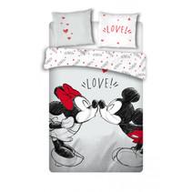dekbedovertrek Mickey & Minnie 240 x 220 cm wit/rood