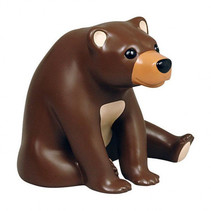 spaarpot Bear junior 17,5 x 16 x 16 cm polystone bruin