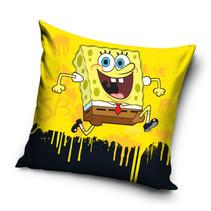 kussen SpongeBob 40 x 40 cm katoen geel/zwart