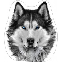 kussen Wolf junior 40 cm polyester grijs