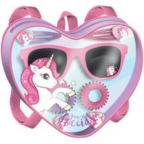 haaraccessoires zonnebril unicorn meisjes roze 8-delig