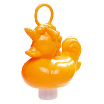 badeend Eenhoorn junior 12 cm oranje