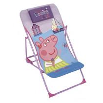 loungestoel Peppa Pig 66 x 61 cm polyester/staal paars