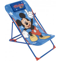loungestoel Mickey Mouse 66 x 61 cm polyester/staal blauw