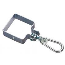 schommelhaak vierkant 90 mm verzinkt zilver
