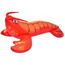 opblaasdier kreeft junior 130 x 70 cm vinyl rood