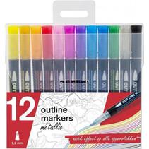 markers Outline Metallic 2 mm junior 12 stuks