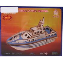 legpuzzel Reddingsboot junior hout 23 stukjes