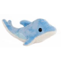 knuffelwalvis junior 24 cm pluche blauw