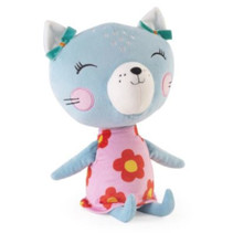knuffelkat junior 45 cm pluche blauw/roze