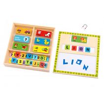 puzzelbox Letters & Woorden junior 30 cm hout