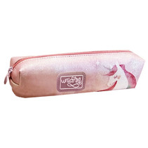 etui Eenhoorn 20 x 4,5 cm polyester/synthetisch roze