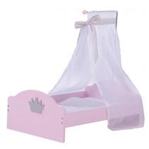 poppenbed Princess Sophie junior 53 cm hout roze/wit