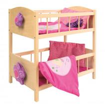 poppenstapelbed Happy Fee junior 57 x 31 cm hout roze