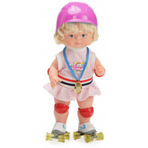 babypop Romy 46 cm textiel roze