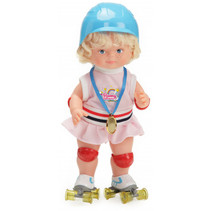 babypop Romy 46 cm textiel blauw/roze