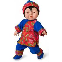 babypop Friends of The World 38 cm meisjes rood/blauw