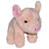 knuffel biggetje junior 13 cm pluche roze