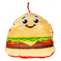 knuffelhamburger 14 cm multicolor