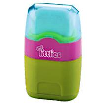 gum en puntenslijper Wave junior blauw/roze/groen