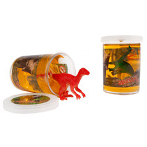 putty met dinosaurus junior 7,5 cm siliconen rood