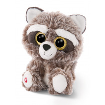 knuffel Glubschis wasbeer junior 15 cm pluche grijs/wit